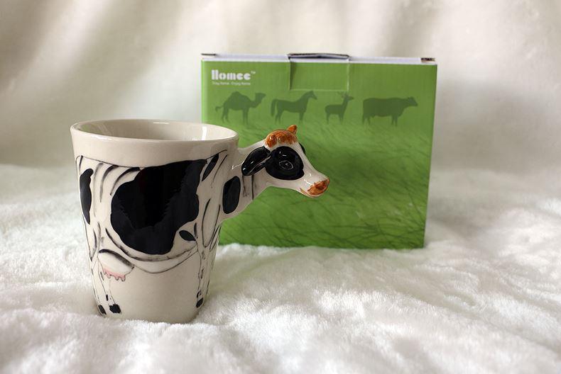 3d Main Cadeau Peinte Éléphant 2018 À La Chien Animale Girafe Café Chameau Tasse Vache Créatif Animaux Singe En Forme Chat Céramique Thé Lait 29HWDIE