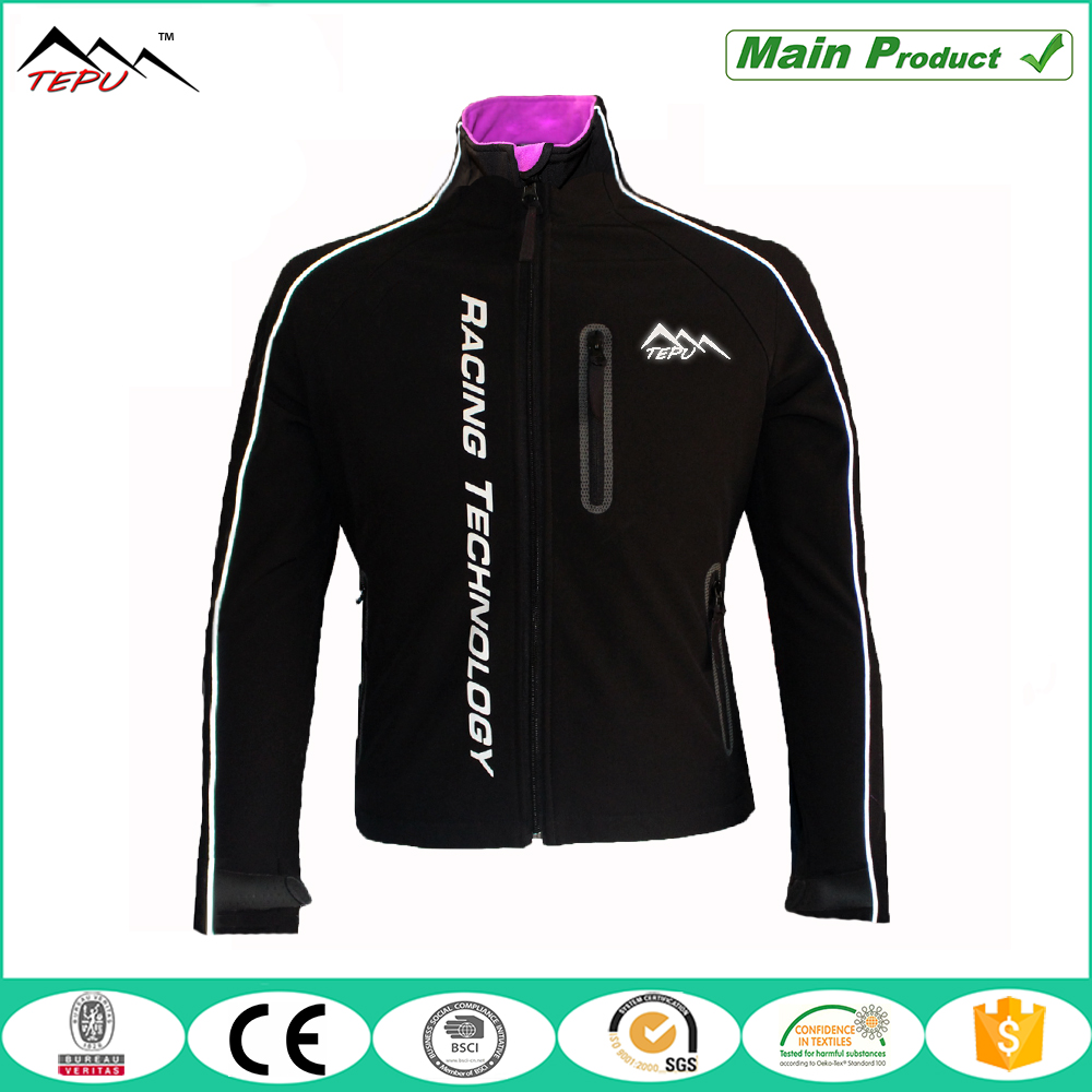 2016 reflective tactical seamless softshell jacket for men