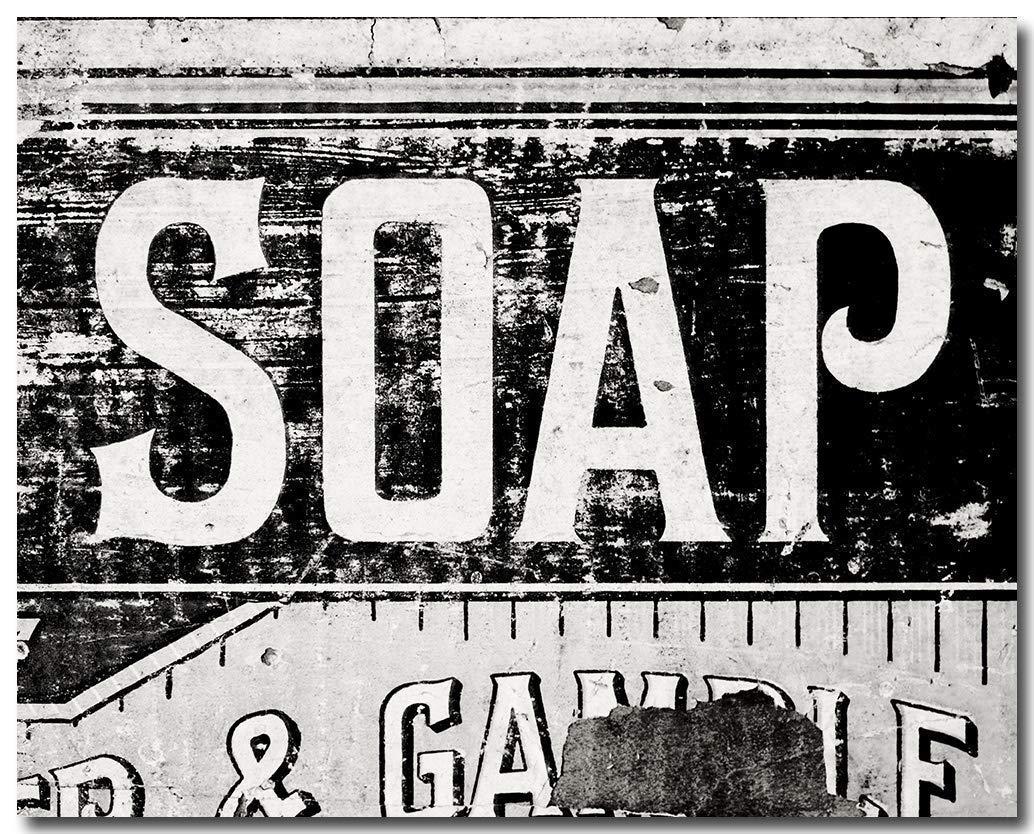 "Rustic Bathroom Decor, Black and White Unframed 11x14"" Print. Farmhouse Laundry Room Wall Art."