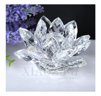 Wedding Souvenirs Colorful Crystal Glass Lotus Flower Mh H0012 Buy