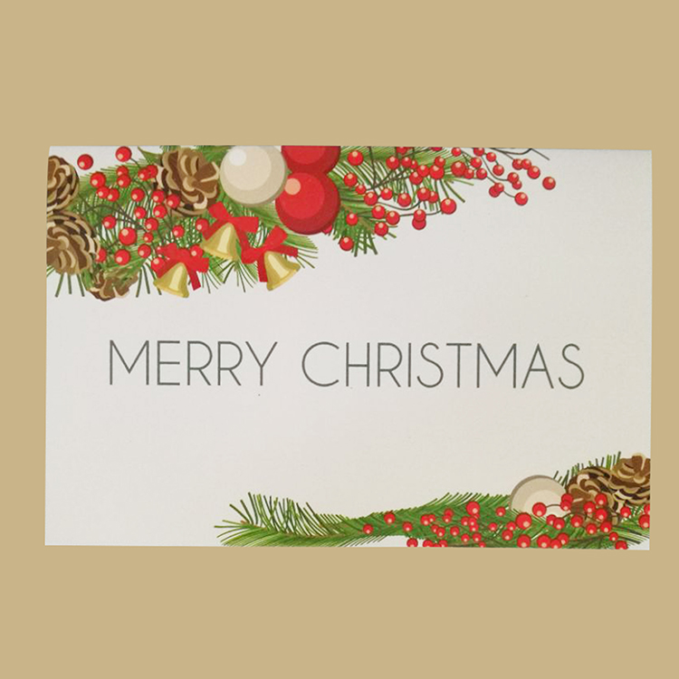 Fábrica de fabricação de vários colorido do Natal cartão de papel