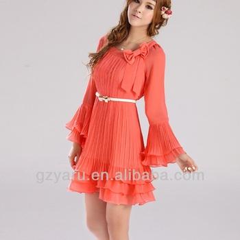 Summer Casual Dress 2014 Tight Long Chiffon Spring Hot Fashion Cute ...