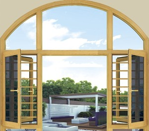 New Style Factory OEM Decorative Arch Aluminum Window
