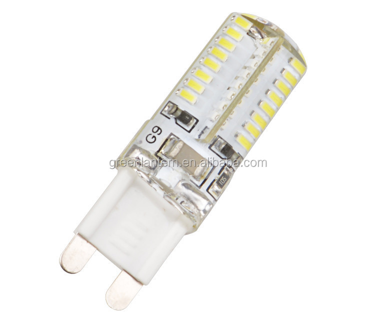 Best Price G9 3W SMD Crystal Silicone led Corn Light Lamp Bulb Pure White Warm White led corn bulb