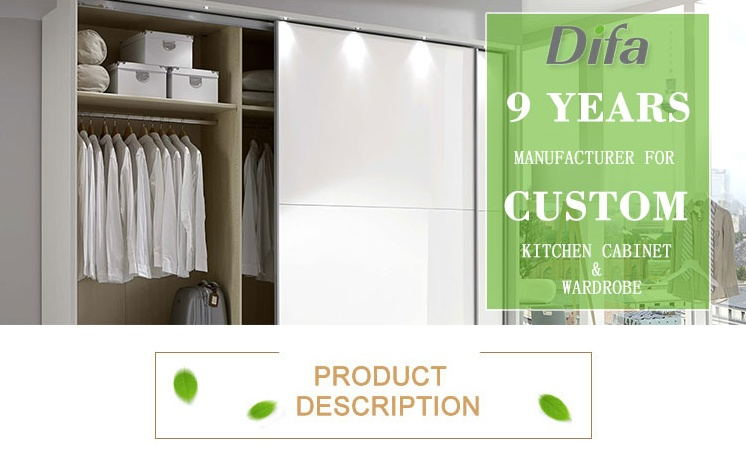 Custom White Wide Bedroom Wardrobes,Best Closets