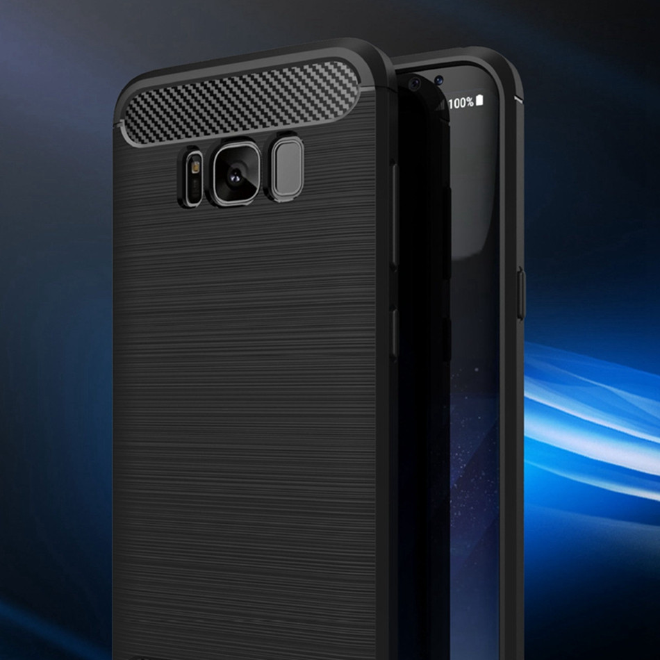 free ship Quality Silicone s8 Case for Samsung galaxy S8 plus TPU Thin Cover Slim for galaxy s8 Mobile Phone Case Carbon Fiber