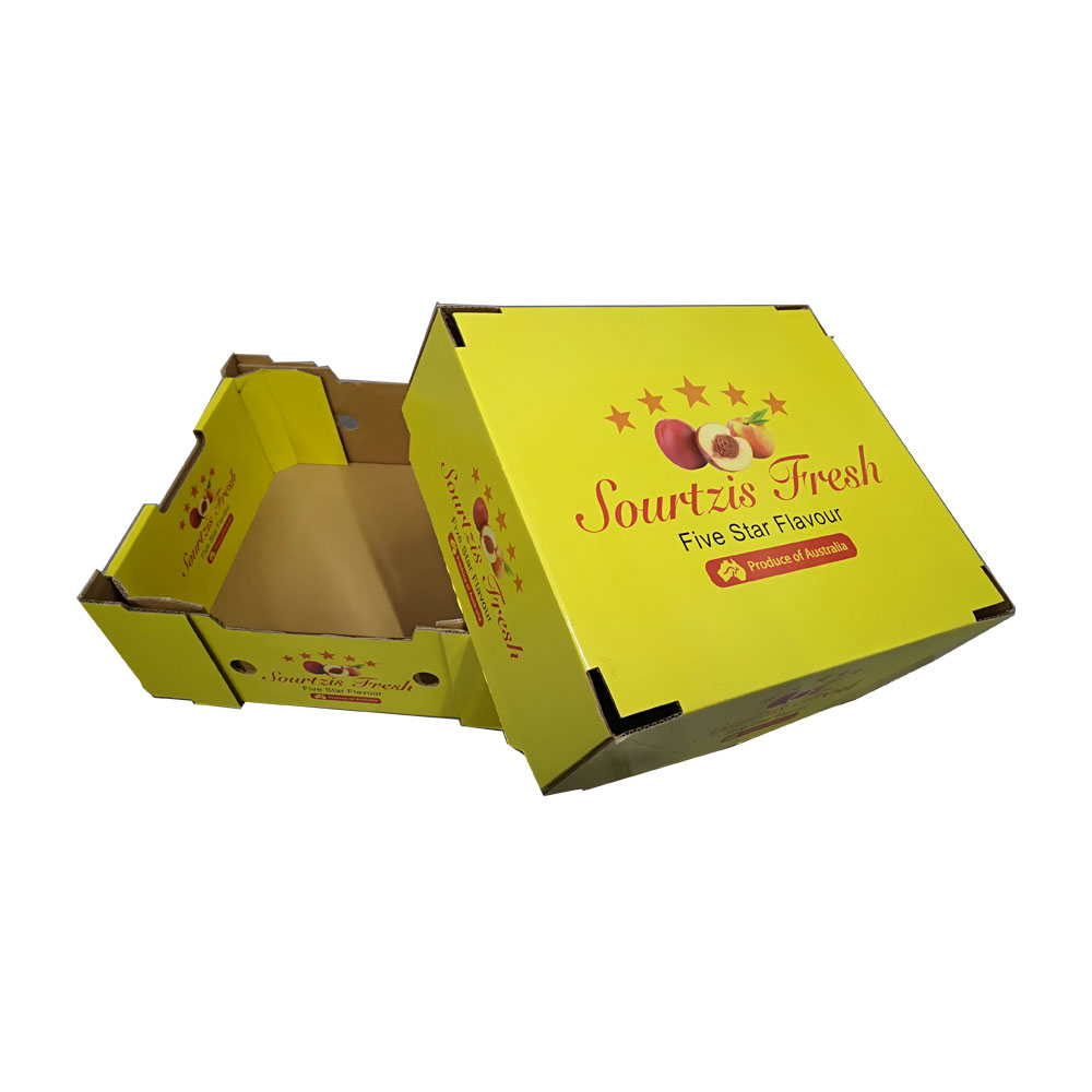 Offset printing gift product fruit packaging custom recycled paper fruit box
