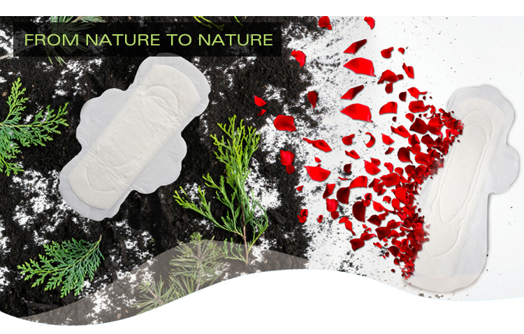Natural Soft Care Organic Cotton Menstrual fc Bio Biodegradable Lady Pad Sanitary Napkin