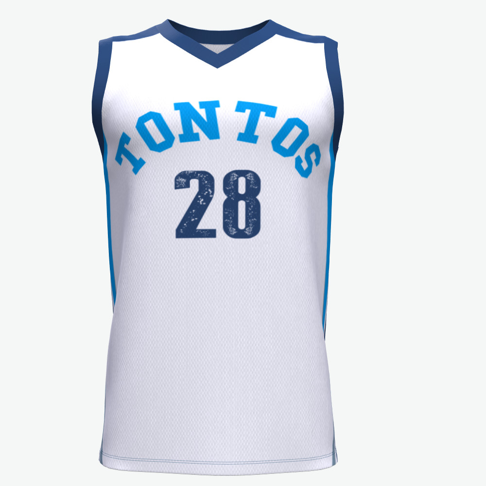 High-End-Sporttraining Gewohnheit sublimiert reversible Basketball Jersey Uniform Weste Design Farbe blau und weiß