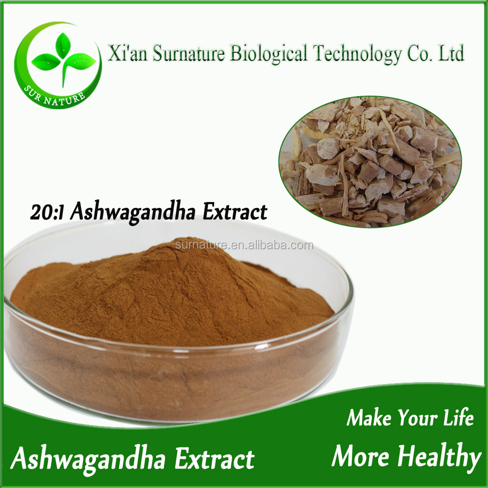 High Quality Natural Ashwagandha Extract 20% Withanolides/Ashwagandha Powder