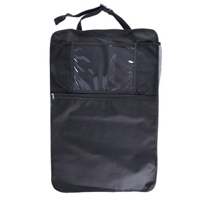 1 Large Zipper Pocket Waterproof Seat Back Cover Organizer with Tablet Holder