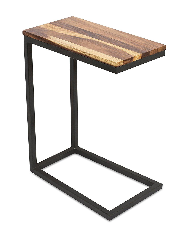 Birdrock Home Acacia Wood Tv Tray Side Table Design Natural Bed Sofa