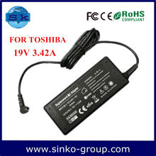 Hot Sale ac dc adapter for Toshiba A200-10W/A200-10X 19V 3.42A 65W dc 5.5*2.5mm