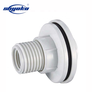 ASTM standard sch40 sch80 pvc pipe fittings water supply pipe join end cap tank clamp nipple plug