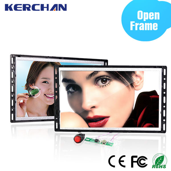 7/10inch open frame digital media totem