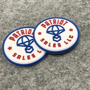 Cheap Customized Logo Patch 3D Soft Plastic PVC Embossed Silicone Rubber patch