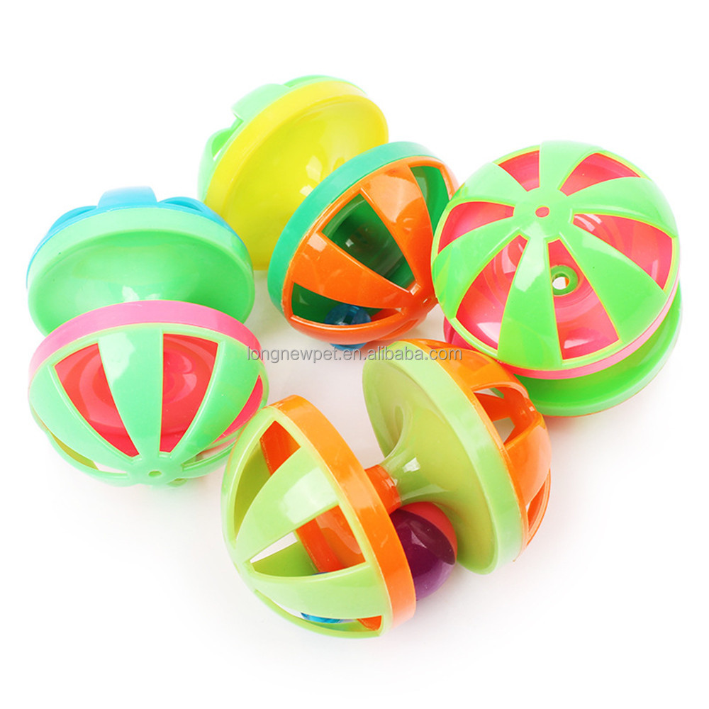 Colorful Pet Ball Toys New Cat Toy with Jingle Bell