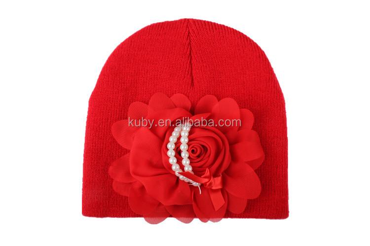 2792d6e0f75 Newborn Beautiful Hat Infant Baby Flower Pearl Hats - Buy Fancy Baby ...