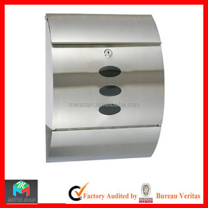 Modern Waterproof Wall Mounted Stainless Steel Mailbox, post box