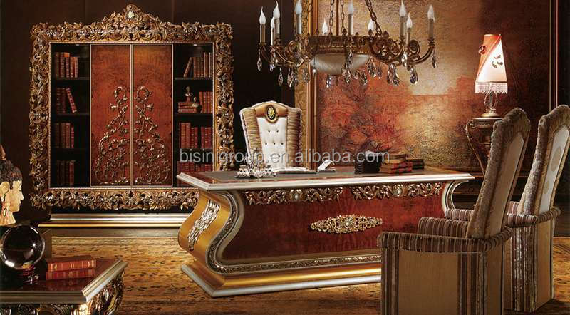 luxury office desk. Bisini Luxury Wooden Executive Desk Set, ,Italian Office Desk, Chair,Book