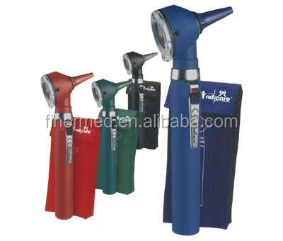 colored pocket otoscope in pouch