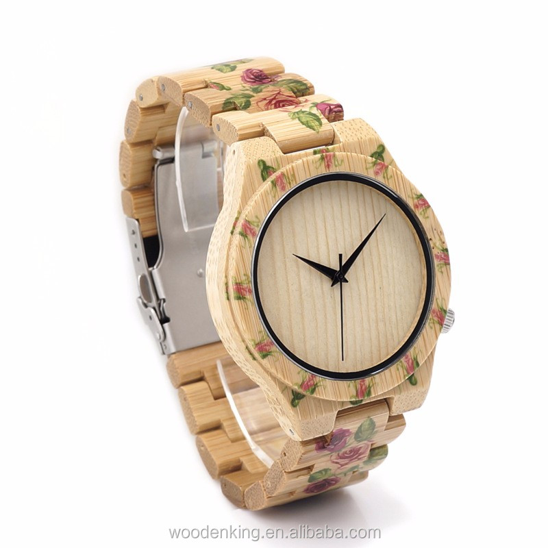 2017 Hot Selling Fashion Leisure Men'S Women No Numbers Custom Logo Quartz Luxury Wholesale Bamboo Wood Watch Dropshipping