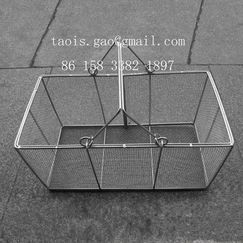 Kitchen Accessory Stainless Steel Wire Mesh Baskets For Food - Buy ...