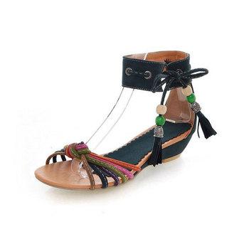 Chaussures Récent 2016 Sandale Fantaisie Fille Plus Dames Wedge OiXZuPkT