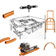 Trolly hanger system hanging overhead conveyor chain