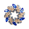 High-grade bauhinia flower Austrian crystal brooch silk scarf fashion jewelry brooch