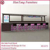 Newest Design Mall Indoor Coffee Shop Kiosk For Sale
