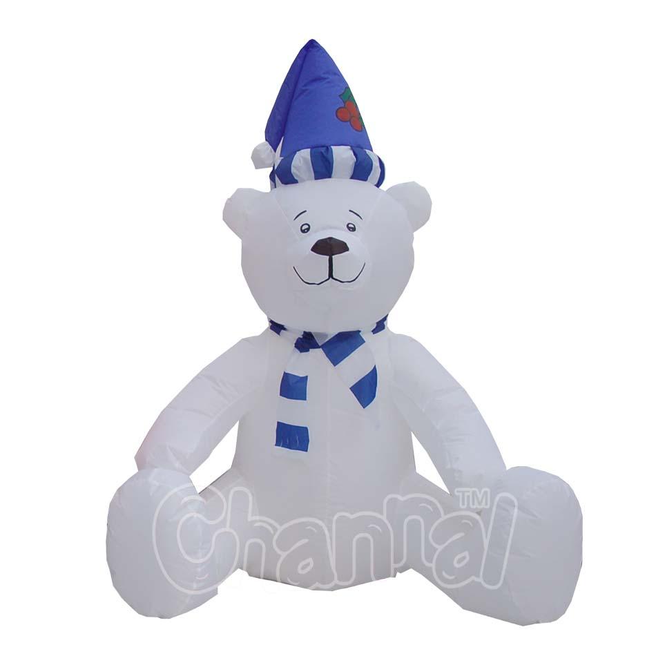 outdoor indoor hanukkah inflatable polar bear christmas decoration with blue santa hat buy outdoor inflatables bearhanukkah inflatable bear decoration - Polar Bear Inflatable Christmas Decorations