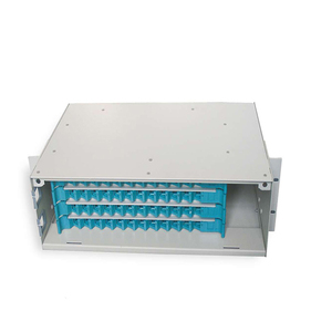 Cold-rolling steel 96 core fiber optic patch panel ODF with splice tary