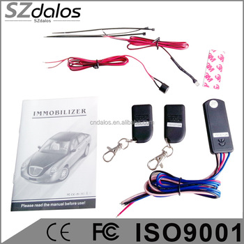 DLS-IM888 Anti-hijacking manual 1 way anti-hijacking car immobilizer with 2.4GHz RFID function