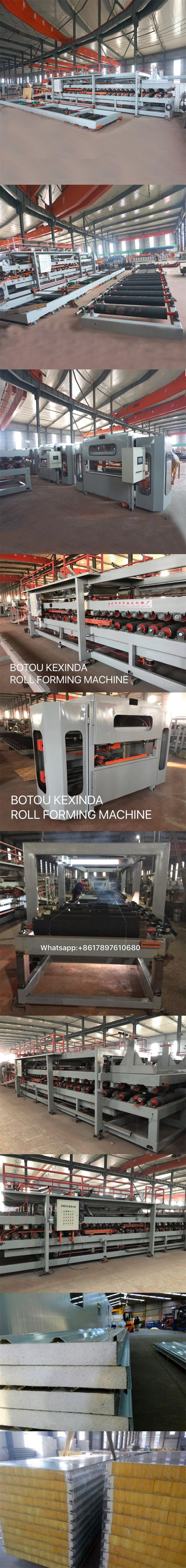 Sandwich Panel Production Line and marking machine for eps and rock wool, roll forming machine
