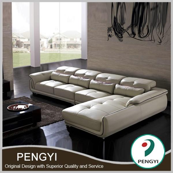 China Italian Leather Sofa Py066