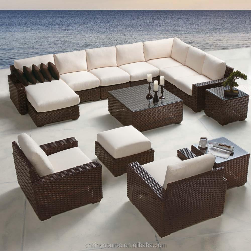 Venta al por mayor muebles de ratan para jardin exterior-Compre ...
