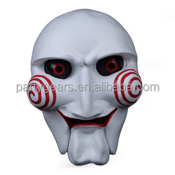 Saw Puppet Halloween Mask Creepy Scary Horror Costumes Prop Mask