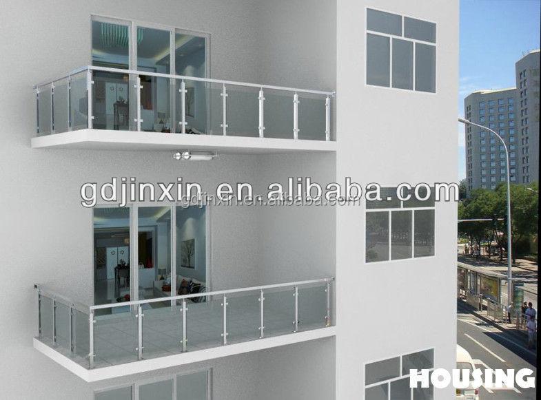 Diseños balcón barandilla de acero inoxidable barandilla de vidrio ...