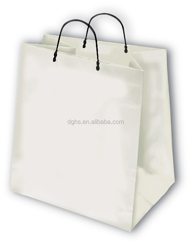 Whole Hdpe Handle Hard Plastic Bags With Logo For Food