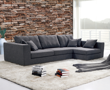 modern noble elegant black leather or fabric i shape sofa couch for home use - Couch Modern