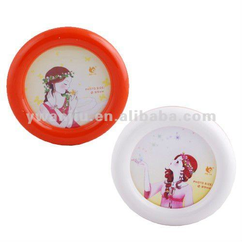 Supply creative fashion round double face photo frame