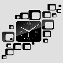 Nástěnné 3D hodiny nalepovací