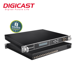 2019 New Product Digital Headend IP Gateway HD Satellite Receiver up to 24  Tuners Input