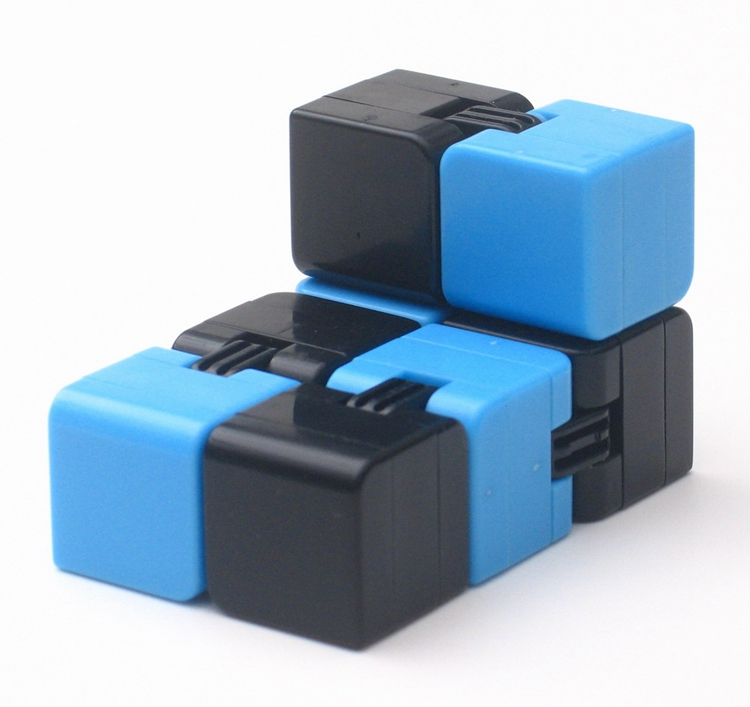 infinity cube. stress relief magnetic abs plastic infinity cube desk mini magic 4x4x4 u