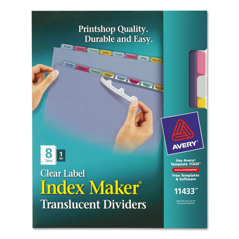AVE11433 - Avery Index Maker Translucent Clear Label Divider