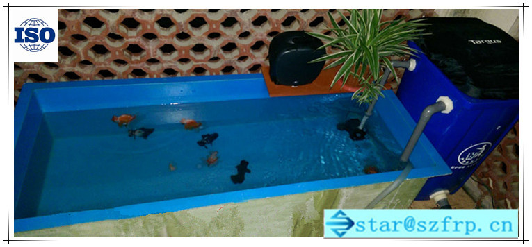 Large fiberglass fish farming water tank fish tank grp for Fish pond tanks for sale
