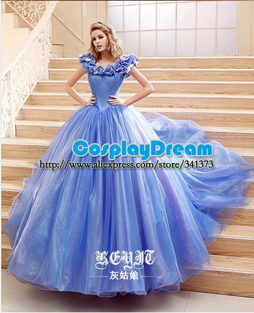 Cinderella Wedding Dress Up Games Online White Camo: Aliexpress.com : Buy 2015 Movie Cinderella Dress