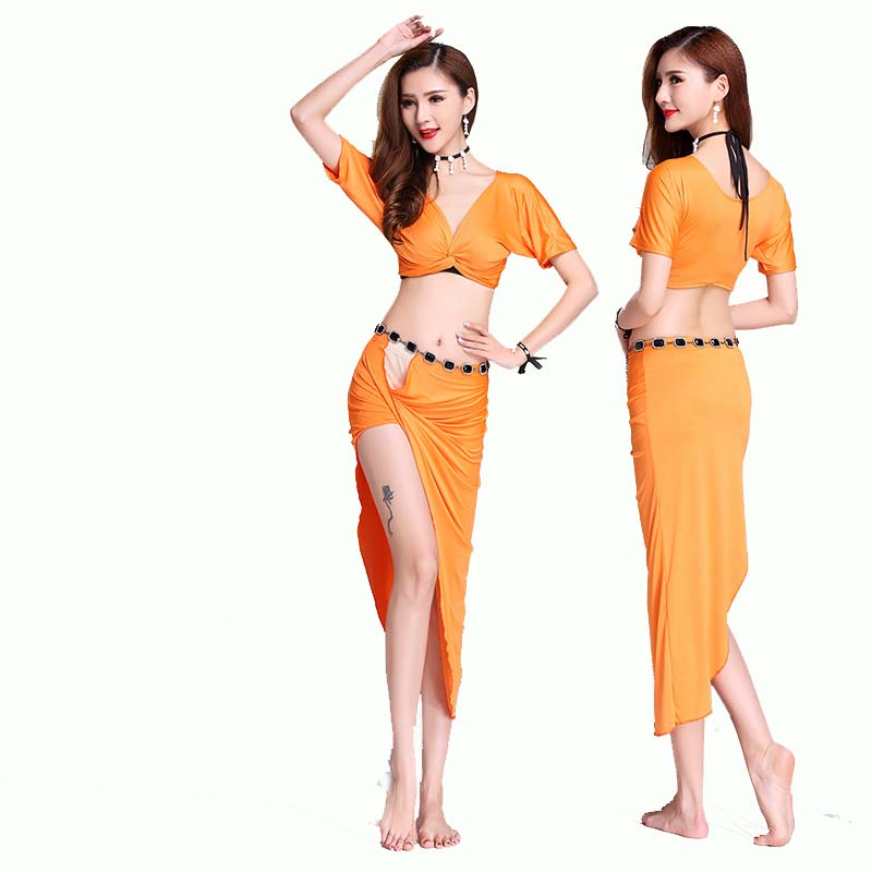 high quality china orange belly dance supplies