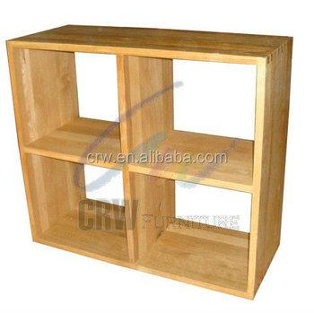 Oa 4042 Modern Display Shelf Solid Oak Cube Furniture